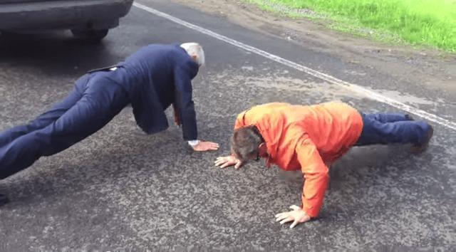 Генсек Ради Європи Ягланд і голова Донецької ОДА Тарута вправуються у відтисканнях