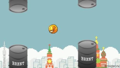 В мережі з'явилася гра, в якій треба утримувати падіння рубля
