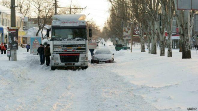 Вночі вантажівка перекрила рух в напрямку Болехова через ожеледь
