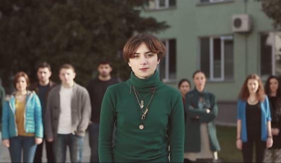 «Коли ви на війні, ми не можемо жити в мирі», – грузинська молодь підтримала Україну