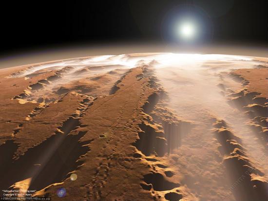 NАSА виклало відео марсіанського заходу (відео)