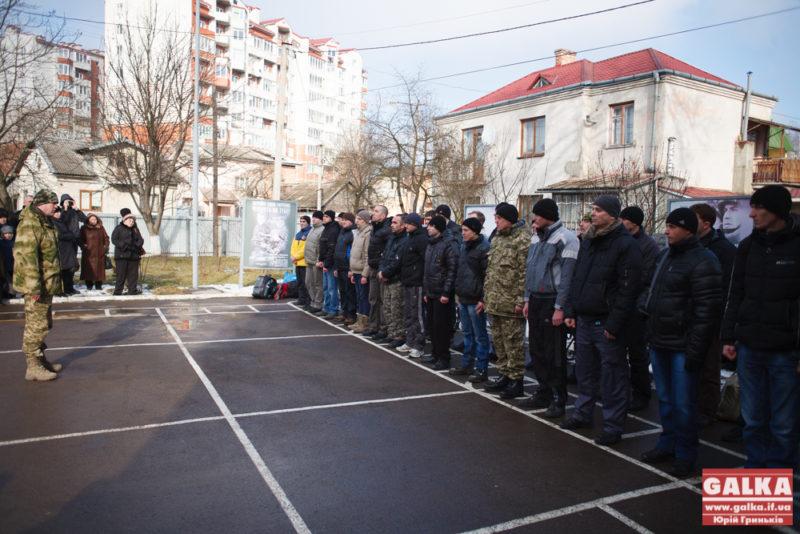 Чергова група мобілізованих поїхала з Івано-Франківська (ФОТО)