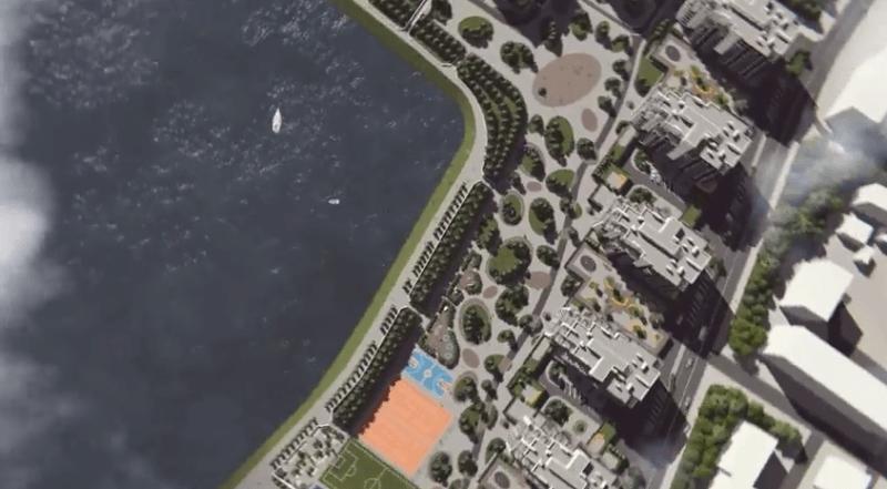 """""""Вамбуд"""" показав, як саме він планує облаштовувати новий мікрорайон коло озера"""