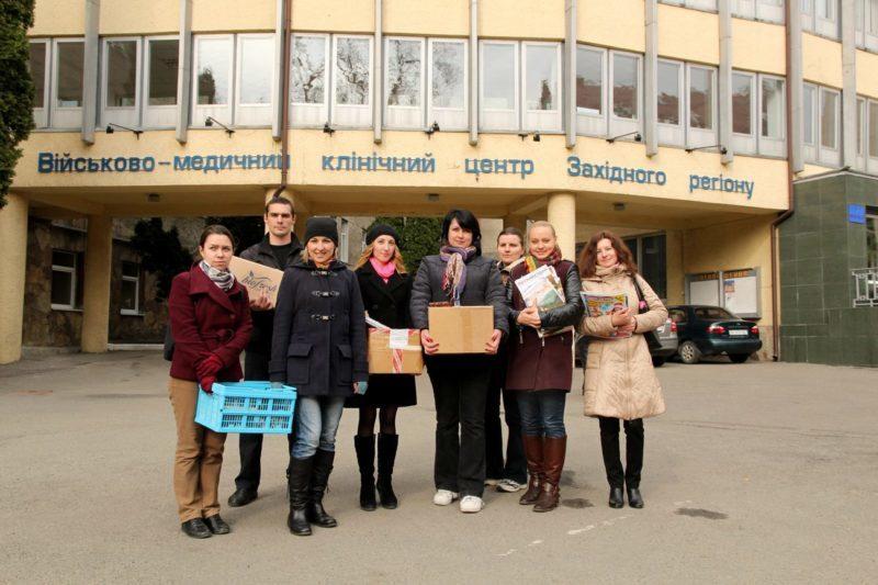 «Книжкова сотня» допомагає лікуванню поранених в АТО