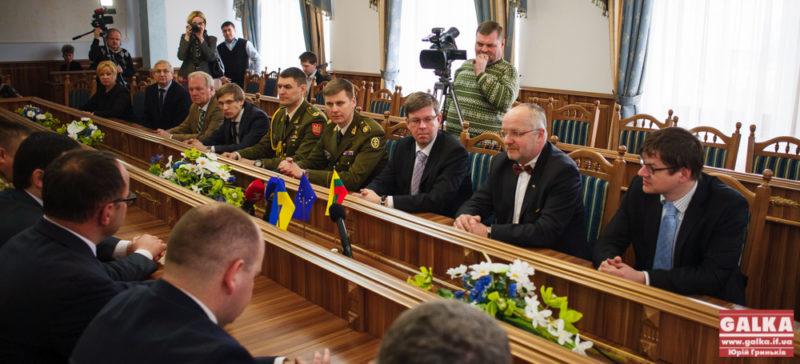 Міністр оборони Литовської Республіки пообіцяв підтримку Івано-Франківщині (ФОТО)