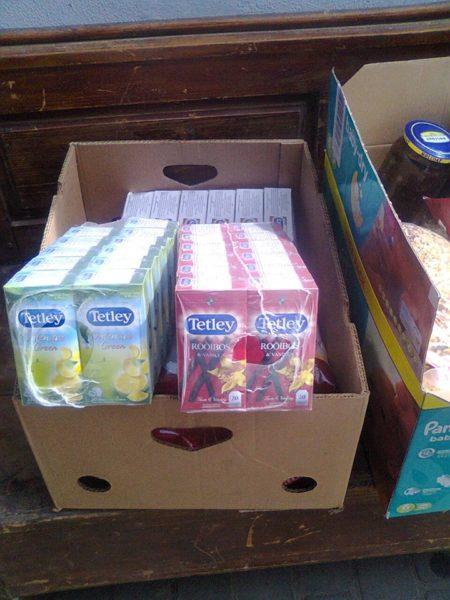 Волонтери передали бійцям на Схід каву, чай, печиво та інші харчі (ФОТО)