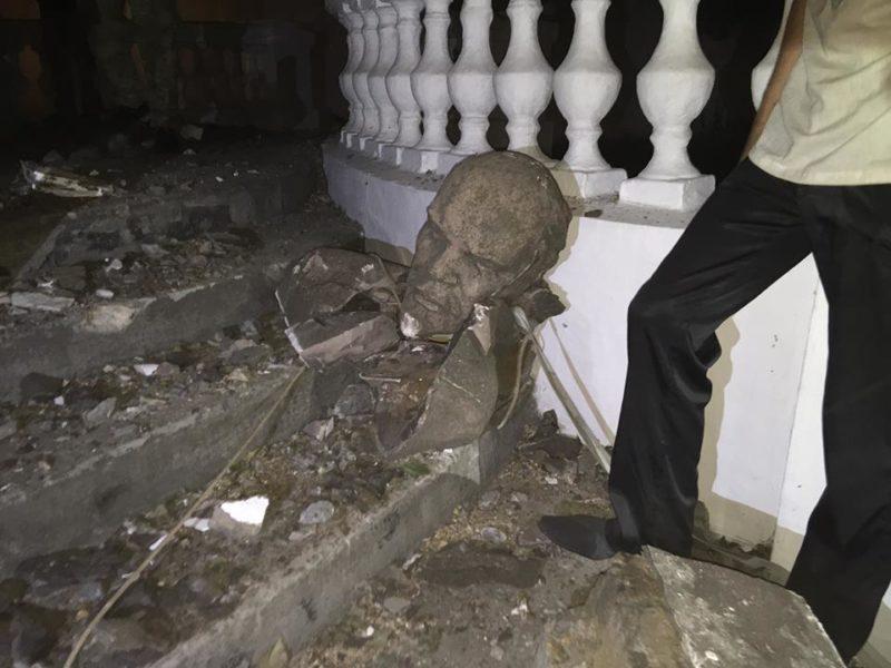 У Миколаєві та на Харківщині вночі впали Леніни