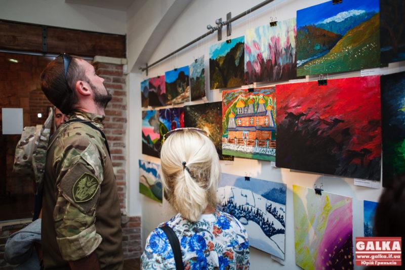У Франківську відкрилася виставка картин бійців АТО (ФОТО)