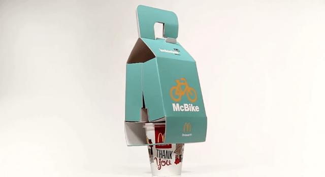 McDonald's створив спеціальне пакування для велосипедистів (ВІДЕО)