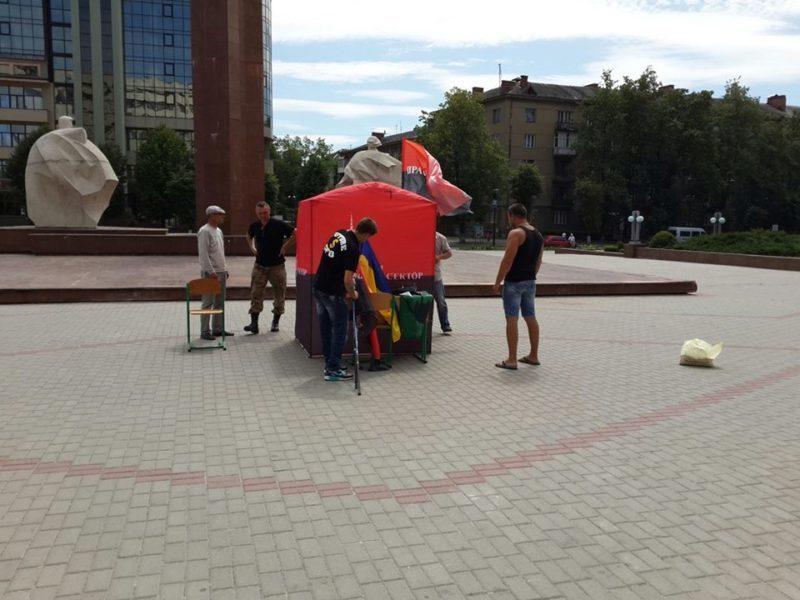 Правий Сектор Івано-Франківська готується до безстрокової акції під стінами ОДА (ФОТО)