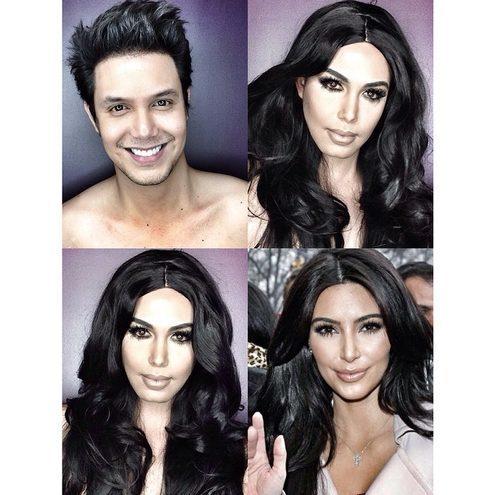 Сила макіяжу: навіть чоловік може виглядати як Кім Кардашян (ФОТО)