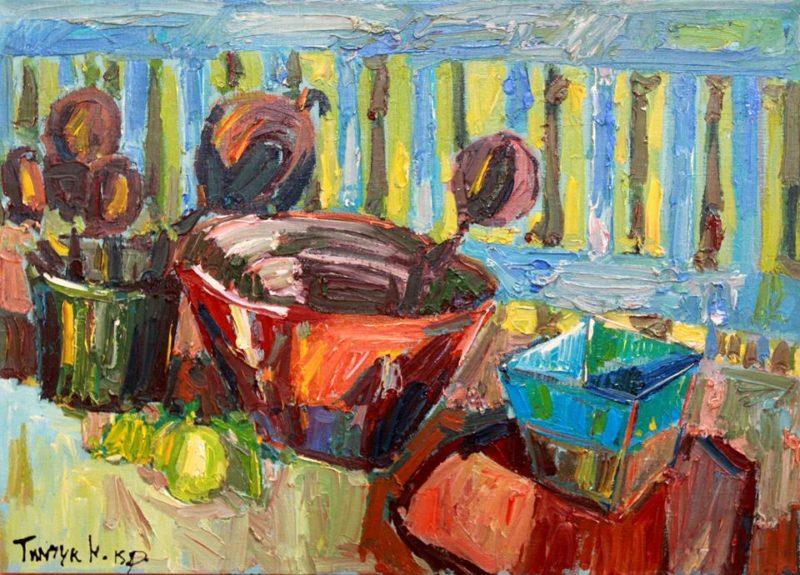 Франківський художник продає картини, щоб допомогти важкопораненому бійцю АТО (ФОТО)