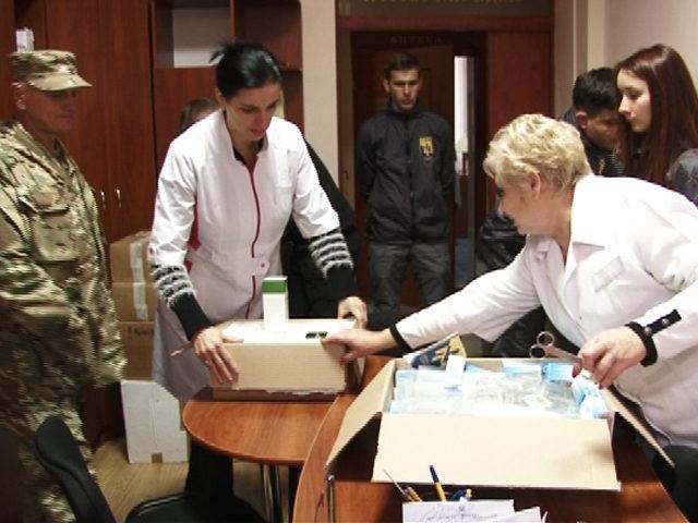 З Італії пораненим учасникам АТО з Прикарпаття передали медичні препарати (ВІДЕО)