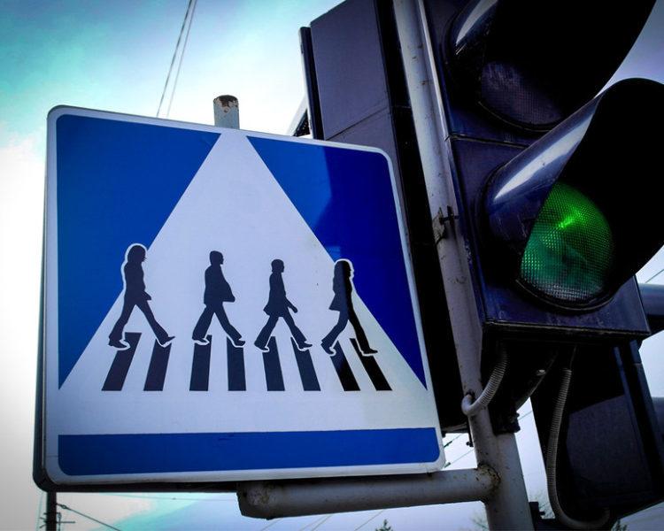У Тернополі з'явився дорожній знак з The Beatles (ФОТОФАКТ)