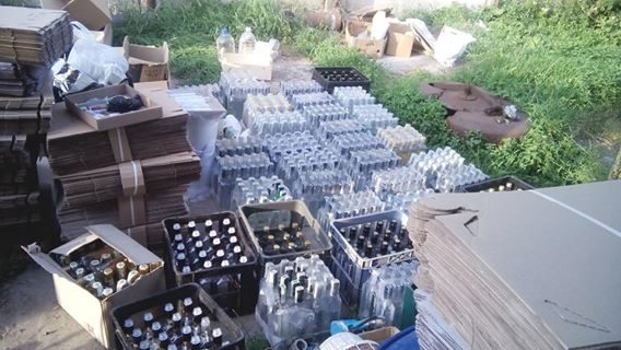 У Франківську викрили підпільний цех з виготовлення алкоголю (ФОТО)