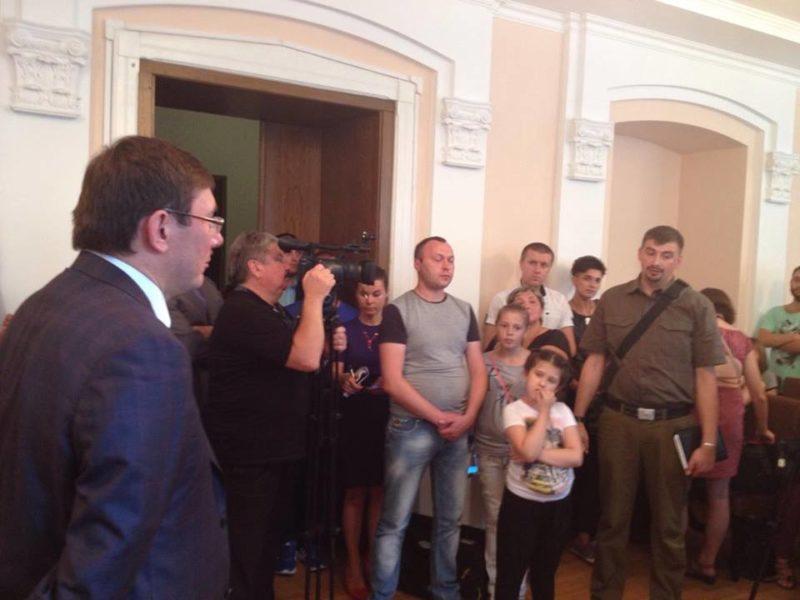 Луценко зібрав скарги від франківських активістів