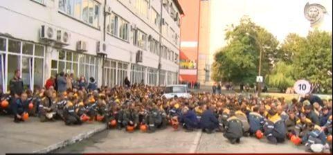 Як страйкували працівники Бурштинської ТЕС (ВІДЕО)