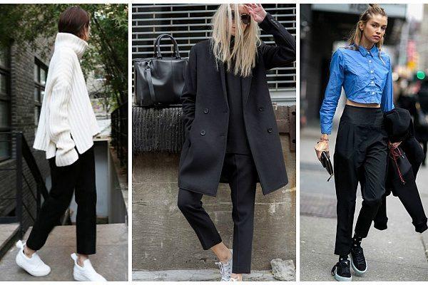 Вулична мода: 10 образів street style з чорними брюками (ФОТО)