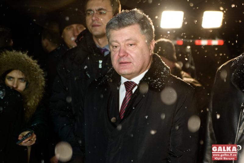 Порошенко на Прикарпатті розповів про ремонт українських доріг (ФОТО)