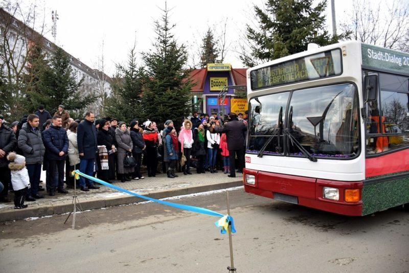 Від обласної лікарні урочисто відправили тролейбус в перший рейс