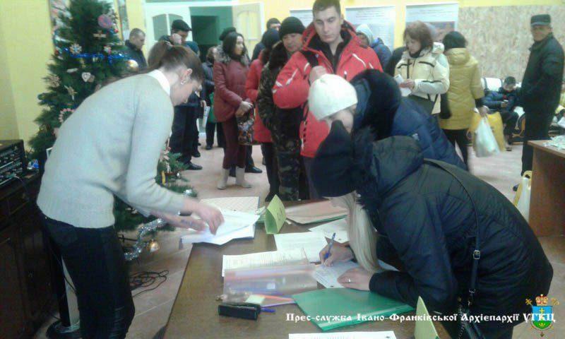 Атовці та їхні родини отримали допомогу від Франківського Карітасу (ФОТО)