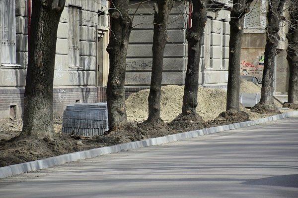 У Франківську продовжують облаштовувати доріжки та зелені зони (ФОТО)