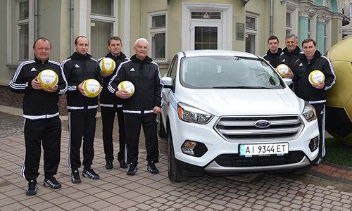 Обласна федерація футболу отримала автомобіль Ford Kuga та тисячу м'ячів (ФОТО)