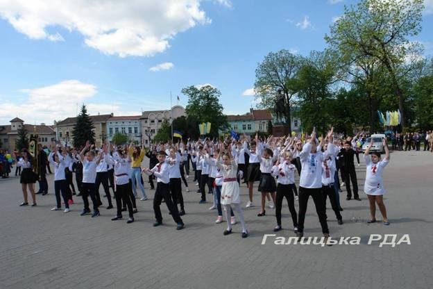 Флешмоб «Європа в ритмі танцю» провели у Галичі (ФОТО)