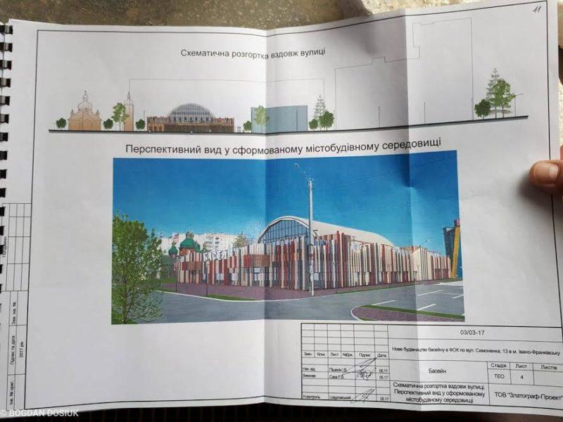 У Франківську збудують басейн із кафетерієм та терасою з шезлонгами (ФОТО)