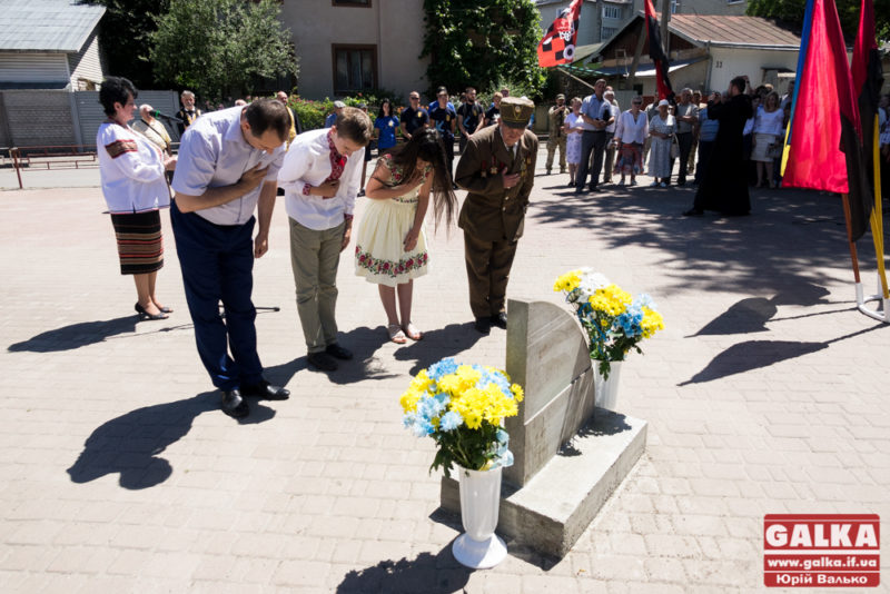 У Франківську урочисто заклали камінь під будівництво пам'ятника Роману Шухевичу (ФОТО)