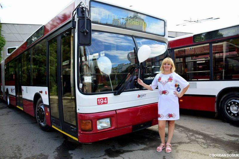 До Франківська прибули австрійські тролейбуси, зручні для маломобільних груп (ФОТО)