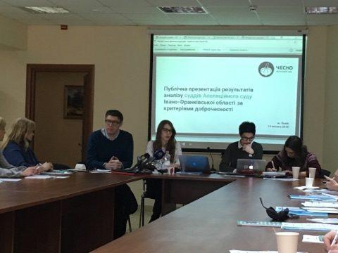 Третина суддів Апеляційного суду Франківщини недоброчесні – активісти