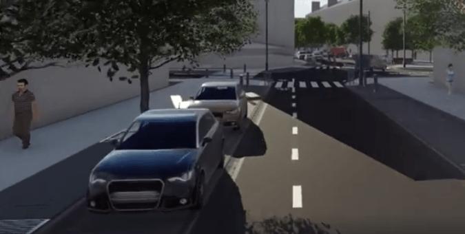 Як виглядатиме відреконструйована вулиця Бельведерська (ВІДЕО)
