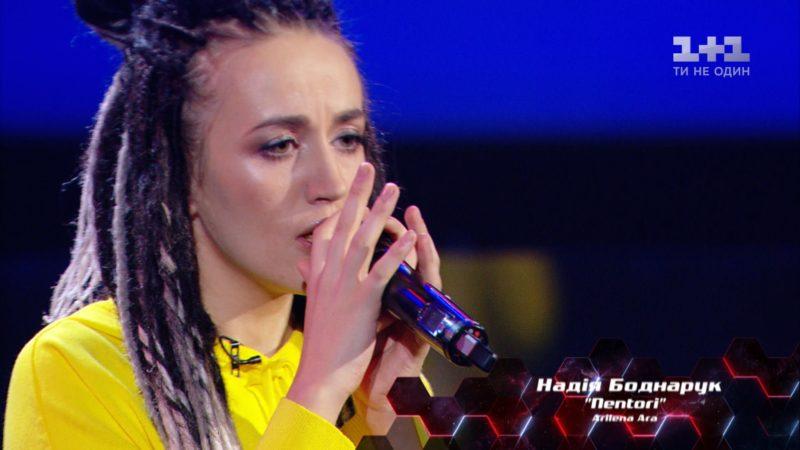 """Дівчина з Верховини заспівала на """"Голосі країни"""" пісню албанською мовою (ВІДЕО)"""