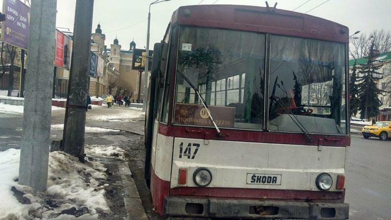 У Франківську їздить тролейбус до Гоґвортса (ФОТОФАКТ)