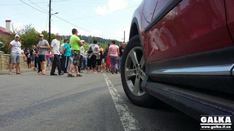 Після діалогу з чиновниками, люди погодилися відтермінувати перекриття дороги Івано-Франківськ – Калуш