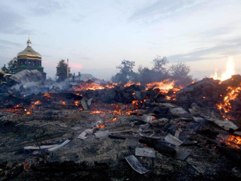 З'явилися подробиці пожежі церкви у Калуському районі (ФОТО)