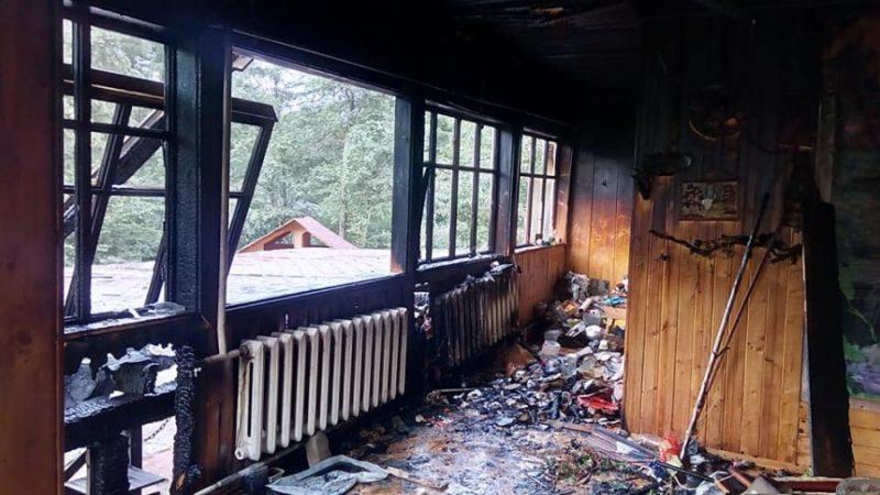 На Прикарпатті згоріло кафе (ФОТО)