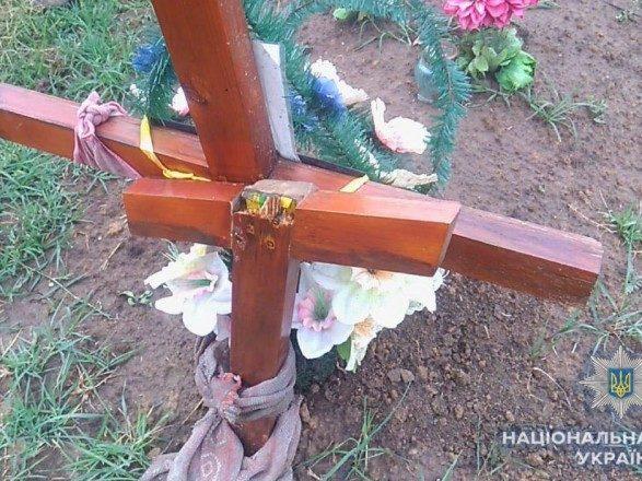 На Одещині підліток поламав хрести на цвинтарі через сварку з дівчиною (ФОТО)