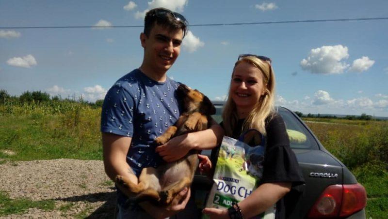 Молодята з Франківська замість весільних цукерок та квітів приймали корм для безпритульних тварин (ФОТО)