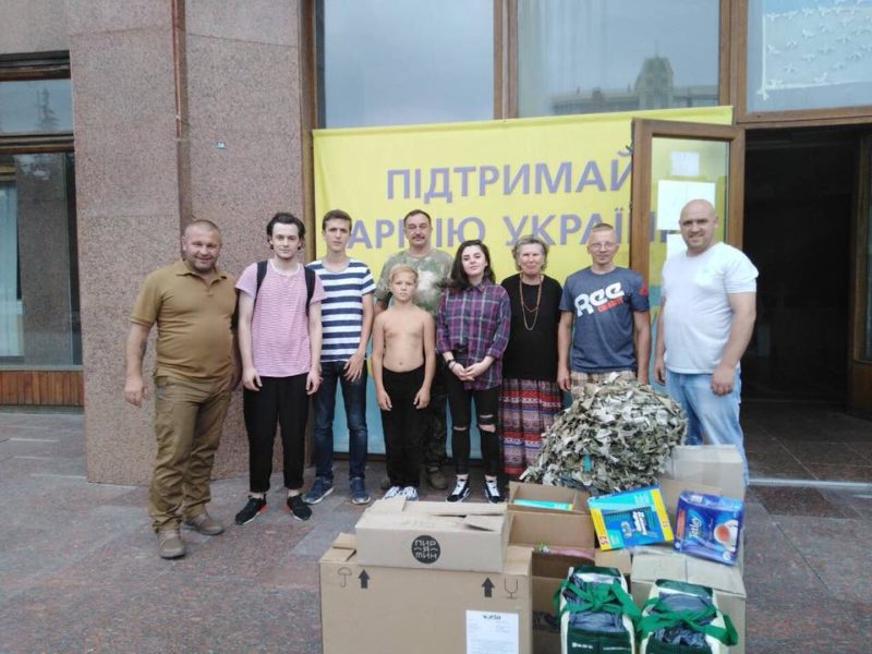 Прикарпатські волонтери вкотре везуть допомогу бійцям в зону ООС (ФОТО)