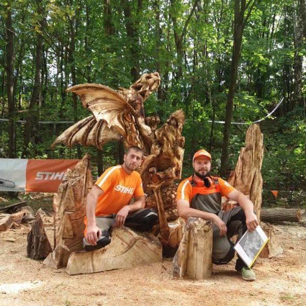 Прикарпатці позмагалися у чемпіонаті скульпторів «STIHL Carving Cup 2018» (ФОТО)