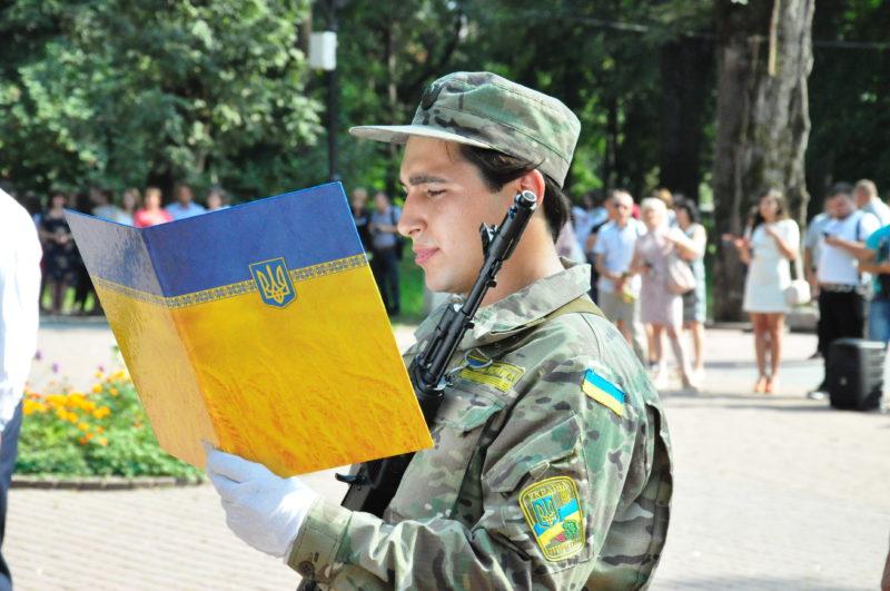 Перші випускники ПНУ кафедри військової підготовки склали Присягу на вірність українському народові (ФОТО)