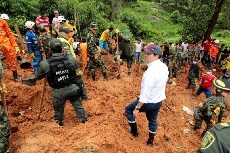 У Колумбії через зсув ґрунту загинули дев'ять людей, ще п'ятеро зникли безвісти (ФОТО)