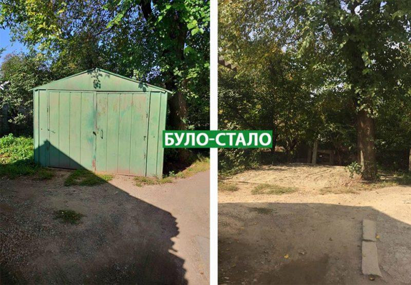 На двох вулицях Франківська демонтували незаконні гаражі (ФОТО)