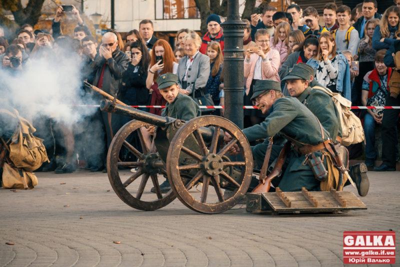 У Франківську січові стрільці з рушницями та гарматами билися з поляками за Ратушу (ФОТО)