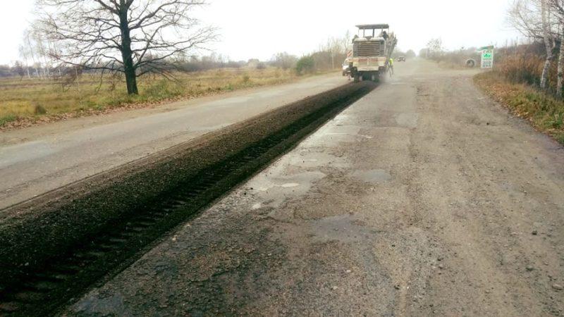 У селі на Калущині почали ремонт дороги державного значення (ФОТО)