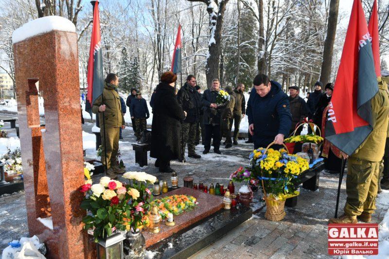 У Франківську вшанували пам'ять загиблого атовця Григорія Семанишина (ФОТО)
