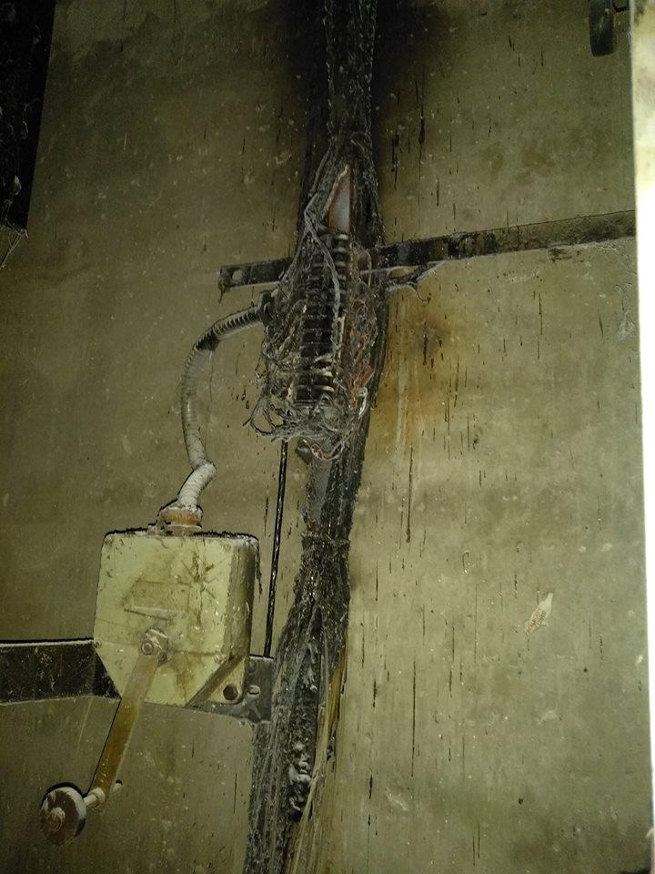 В МІУК оцінили збитки від спаленого ліфта в 50 тисяч (ФОТО)