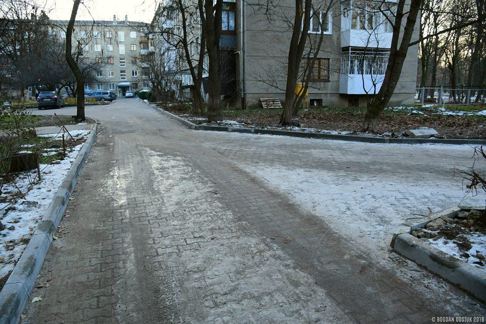 На Чорновола за 770 тисяч відремонтували прибудинкову територію (фоторепортаж)
